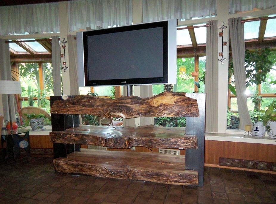 NATURAL LOG FURNITURE WITH I BEAMS